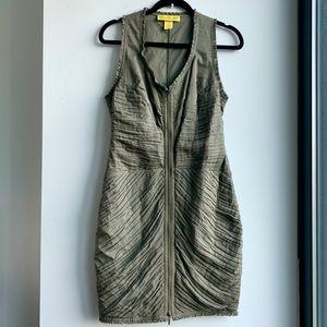 CATHERINE MALANDRINO - Olive Zip Up Dress